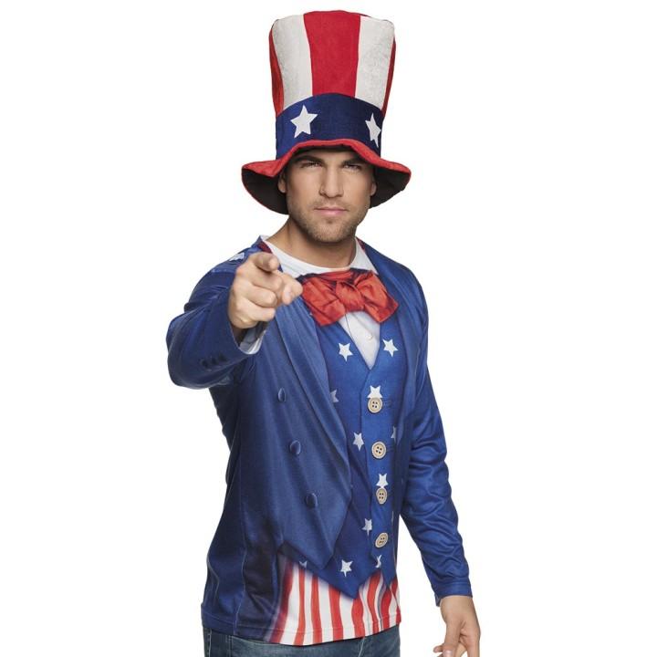 Uncle Sam shirt foto realistische 3D print