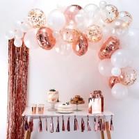 Rosé gouden ballonnenboog DIY-pakket 70-delig
