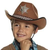 Cowboyhoed kind bruin Sheriff junior
