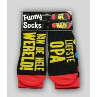 """Grappige sokken met tekst """"Liefste opa"""""""