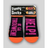 """Grappige sokken met tekst """"Ik ga trouwen"""""""