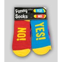 """Grappige sokken met tekst """"yes-no"""""""
