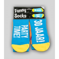 """Grappige sokken met tekst """"30 jaar"""""""