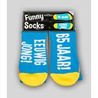 """Grappige sokken met tekst """"65 jaar"""""""