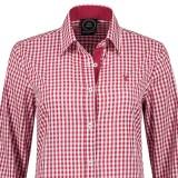 tiroler hemd dames rood wit geruit