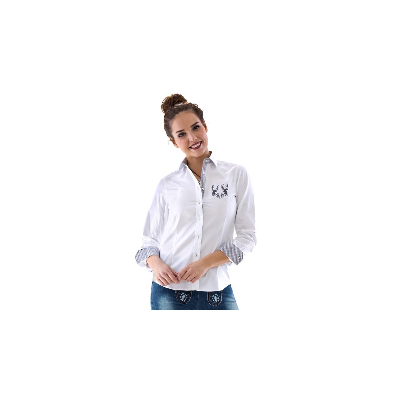 tiroler hemd dames wit trachten shirt