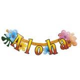 Slinger met tropische bloemen hawaii versiering