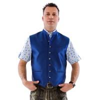 Trachtenvest Jaquard blauw Tiroler gilet