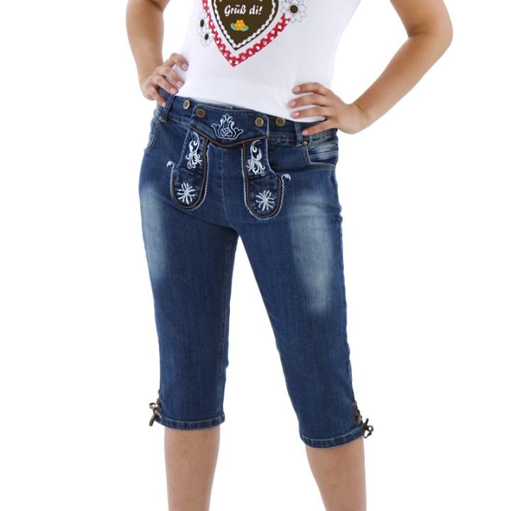 Trachten jeans voor dames kniebund