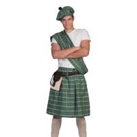 schotse kilt heren rok groen carnaval