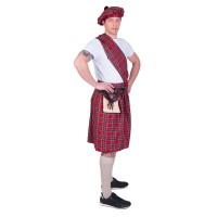 schotse kilt heren rok rood carnaval