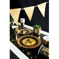 Halloween tafelloper gouden heks 40x180cm