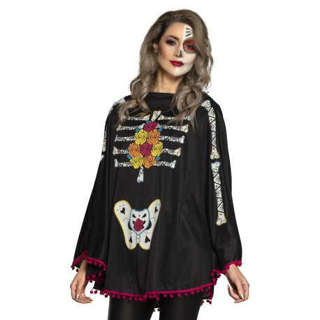 Mexicaanse poncho Day of the Dead