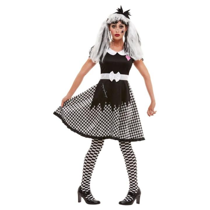 Gebroken pop kostuum Halloween pakje dames