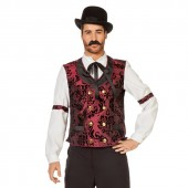 wetern gilet cowboy The Gambler bordeaux