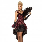 Burlesque jurk dames kostuum moulin rouge