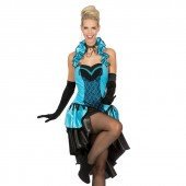Burlesque jurk dames kostuum saloon girl