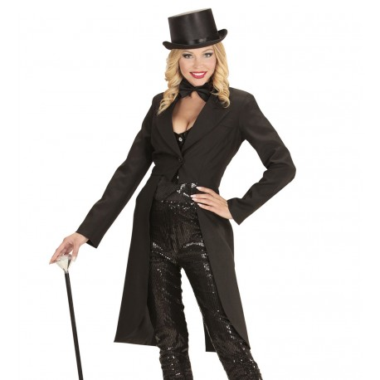 Slipjas zwart dames carnaval