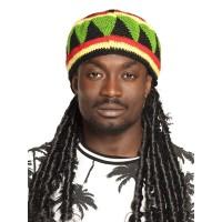 Rasta muts met haar Jamaica dreadlocks