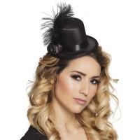 Burlesque hoedje Juliette Zwart mini hoedje