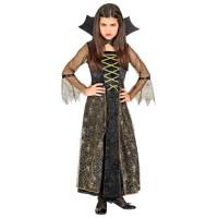 Heksen jurk kind + kraag Spiderella