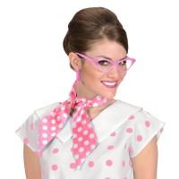 sjaaltje polka dots haarlint roze wit