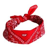 Vintage rode bandana haarband 100% katoen