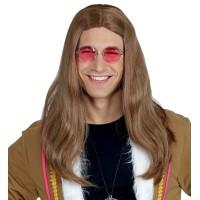 hippie pruik man carnaval feestpruiken heren