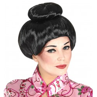 Chinese Geisha pruik zwart