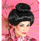 chinese geisha pruik zwart carnavalspruik feestpruik