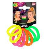 Fluo haarelastiekjes neon accessoires carnaval
