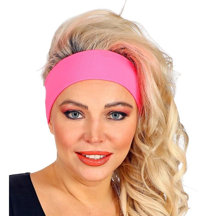 Fluo haarband neon roze