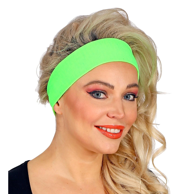 Fluo haarband groen hoofdband neon accessoires