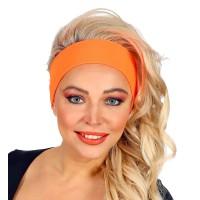 Fluo haarband neon oranje