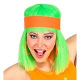 Fluo haarband oranje hoofdband neon accessoires