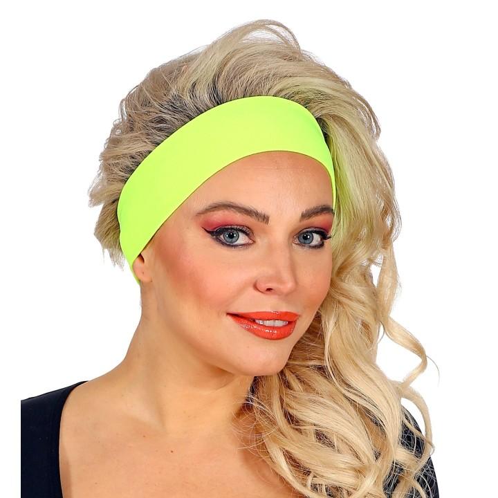 Fluo haarband neon geel