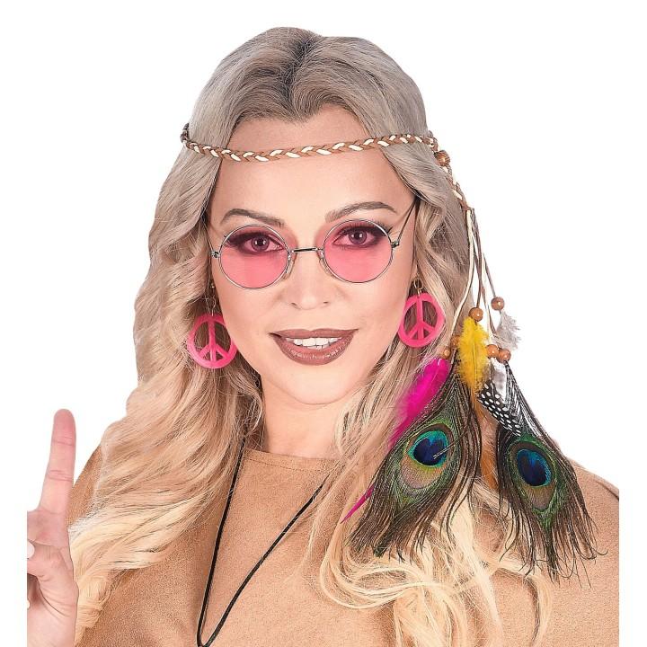 Hippie hoofdband indianen veren multi