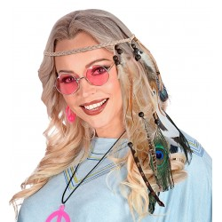 Hippie hoofdband indianen veren pauw