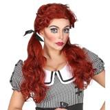 halloween killer doll pruik rood
