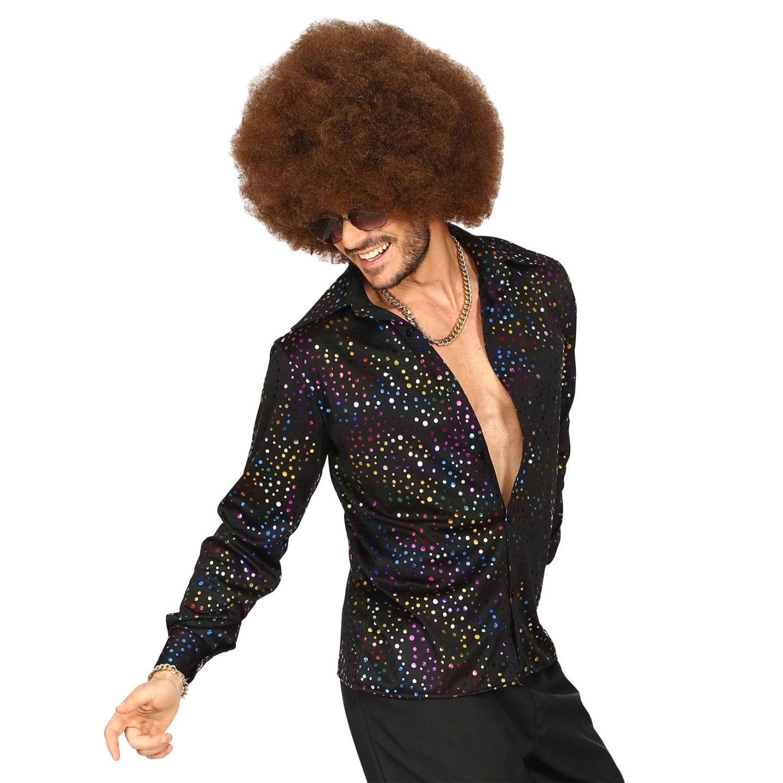 Jaren 70 kleding Disco hemd heren