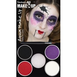 halloween schmink gebroken pop water makeup