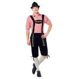 goedkope Lederhose Johann lange zwarte Tirolerbroek oktoberfest kleding