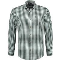 Trachtenhemd heren Tiroler shirt groen wit