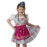 tiroler jurkje kind dirndl pakje carnaval kostuum