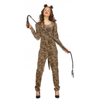 Luipaard kostuum dames jumpsuit