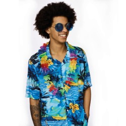 Hawaii Hemd heren Tropical shirt blauw
