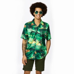 Hawaii hemd heren Tropical shirt groen