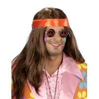 Hippie pruik heren Bryan
