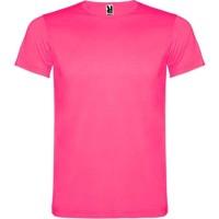 Fluo T-shirt volwassenen neon roze unisex
