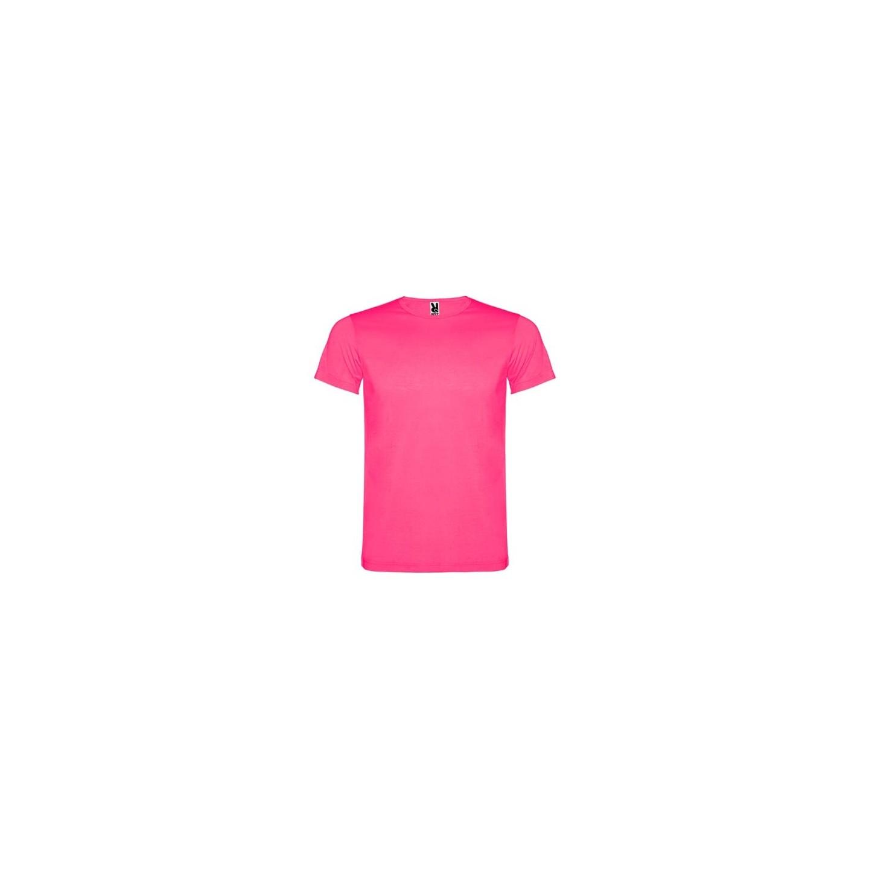Fluo T-shirt volwassenen neon roze